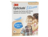 3M Opticlude Silicone Parches Oculares Niño-Niña Mini 5,0 x 6,0 cm 20 Parches