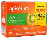 Apisérum Defensas Jalea Real Vitaminada PACK AHORRO 90 Cápsulas