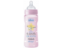 Chicco Biberón Silicona 330 ml Tetina Flujo Rápido 4 Meses+ By Mr.Wonderful Rosa EDICION LIMITADA
