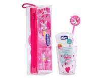 Chicco Baby Set Dental +36 Meses Rosa