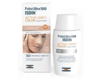 Isdin Fotoprotector Solar Facial FotoUltra 100 Active Unify (SPF 50+) COLOR Antimanchas Fusión Fluido 50 ml