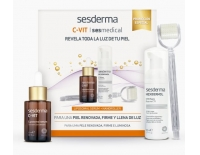 Sesderma PACK C-Vit Sérum 50 ml + Sesmedical Nanoroller + Hexidermol Espuma CTB 50 ml