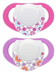 Chicco Chupete Physio Compact Látex 6-12 Meses 2 Unidades Rosa-Lila