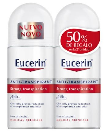 Eucerin Desodorante DUPLO Antitranspirante Roll-on 48 Horas 2 x 50 ml
