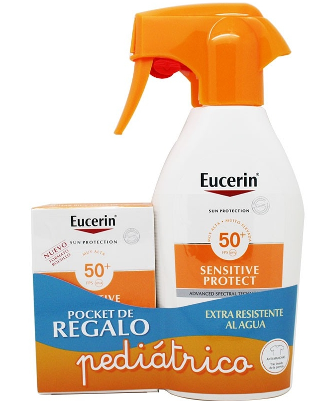 Eucerin Solar Infantil Spray Sensitive Protect (SPF50+) 300 ml+REGALO Crema Facial