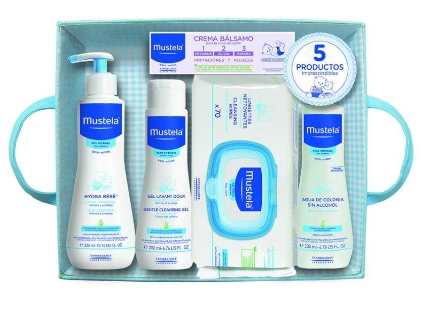 Cesta Bebe Mustela.Mustela Canastilla Bebe Azul 5 Productos