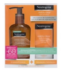 Neutrogena Visibly Clear Spot Proofing Pack Limpiador 200 ml + Crema Hidrante 50 ml Diario Oil Free
